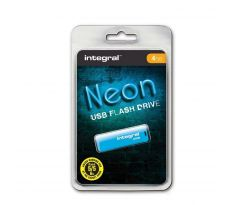 Flash disk 4GB USB 2.0 Integral Neon, modrý