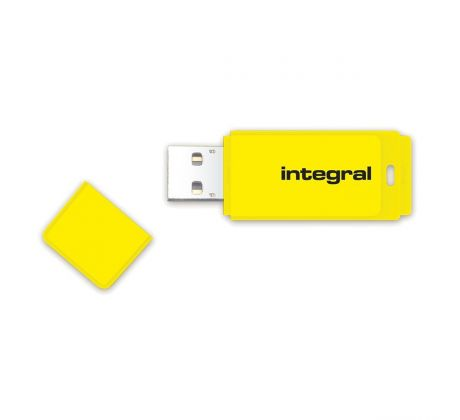 Flash disk 32GB USB 2.0 Integral Neon, žlutý