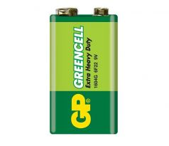 Baterie bloková 9V 6F22 Zn-Cl GP Greencell