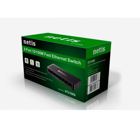 Switch Netis Desktop ST3108S 10/100Mbps, 8x LAN