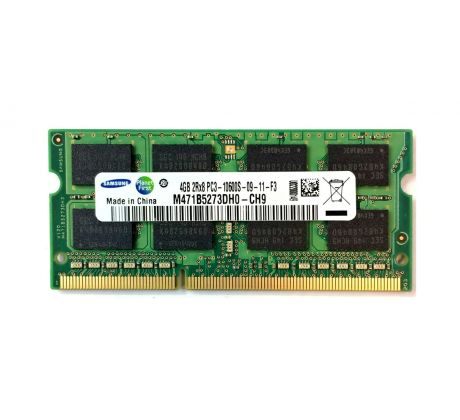 Paměť SO-DIMM DDR3 4GB 1333MHz PC3-10600 CL9 1,5V Samsung